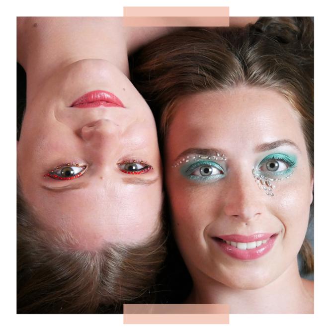 Close Up – Perles bleu & rouge